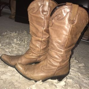 Women's Leather Western Boot- Size 8